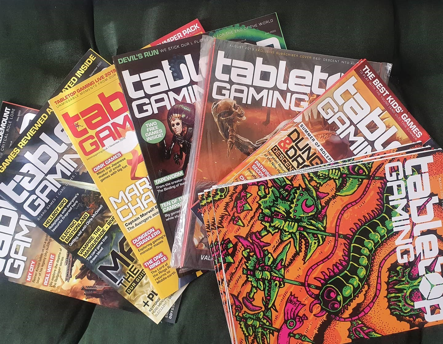 Tabletop gaming magazine back issues