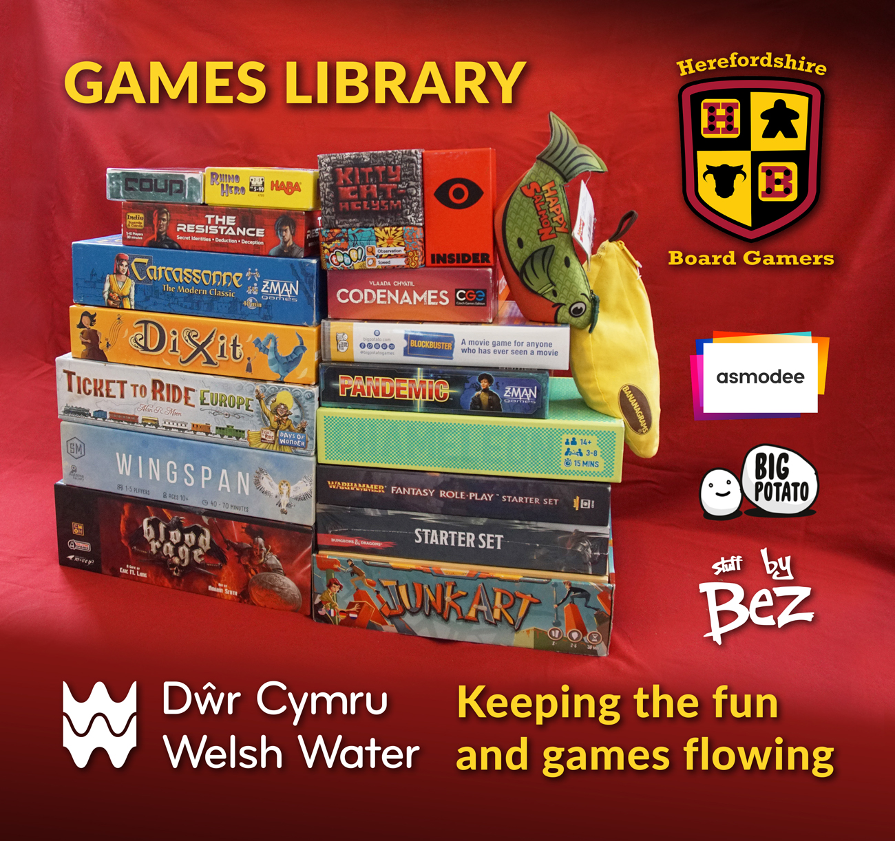 Board Game library now has 130 games, 13 Puzzles and 2 Role play games