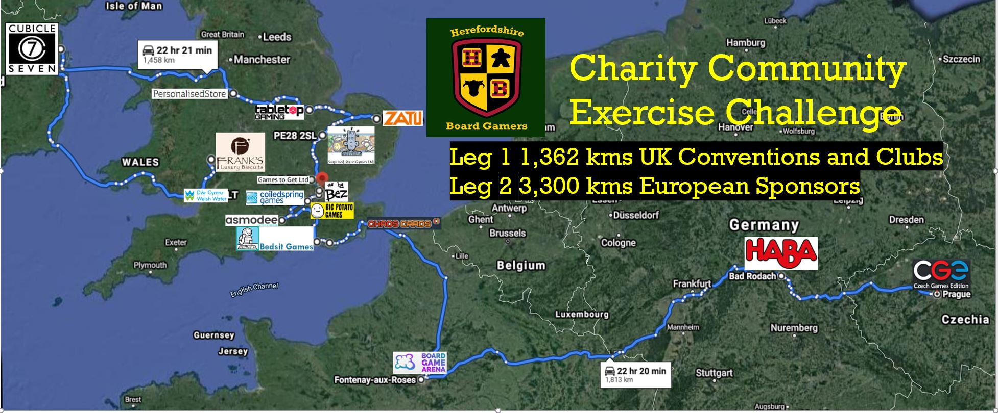 Charity community exercise challenge